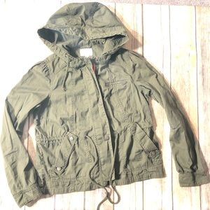 Converse One Star Army Green Utility Jacket XS